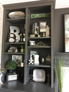 Accessories on shelves